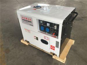 Silencio Portátil Generador Diesel 5kVA para uso doméstico