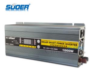 Suoer 12V 220V de 1000W Inversor de potencia con el cargador (HBA-1000C)