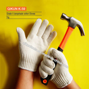 Punktierte alle Größe K-88 gestrickte Arbeitssicherheits-Lampenschirm-Baumwollhandschuhe