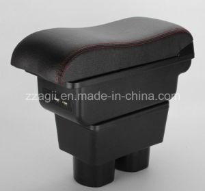 PU Universal PVC Auto Decoración Interior lado asiento coche Caja de la consola del reposabrazos