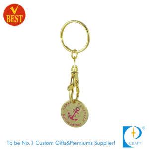 De Metal mayorista Carro de compras de supermercado Token Llavero Moneda/Key Ring