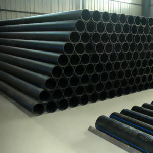 Tubos de drenaje de agua de plástico de HDPE