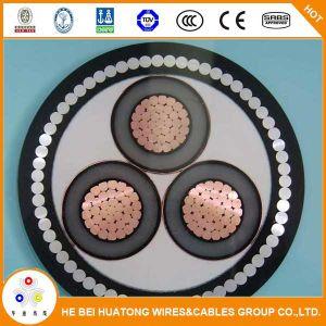 11kv 33kv de núcleo único ou três núcleos Isolados em XLPE Amour Cabo de alimentação em alumínio