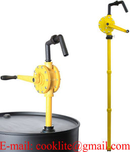 Bomba rotativa Manual Em Aco Inox COM Manivela PARA Oleos E Produtos Quimicos / bomba