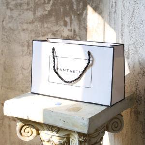 Livre blanc un sac de shopping pour l'emballage cadeau, sac à main, petit sac cadeau fraîches, des vêtements à l'Emballage Sac, Sac de papier commercial, Customiz