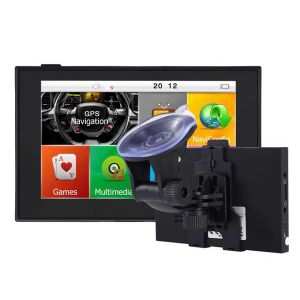 5  Capacitif HD voiture navigateur GPS de navigation GPS Bluetooth 256 m 8g AV en FM jeux gratuitement mis à jour de nouvelles cartes Cartes de chariot