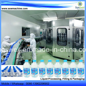 La línea de agua mineral completa línea de producción de plantas de agua