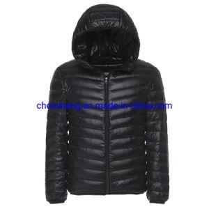 Stock barato la luz de los hombres Down Jacket Sudadera con capucha con plumas ultraligero Windproof Down Jacket