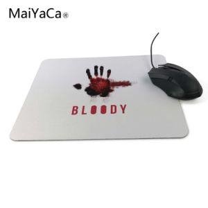 Design de bricolage Mouse antiderrapagem Gamer sangrenta grandes jogos de PC Laptop Mouse pad sangrenta Mouse pad de borracha de Tinta Preta