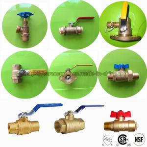 Válvula de bola de latón de sin plomo con cUPC NSF la certificación CSA Canadá EE.UU.