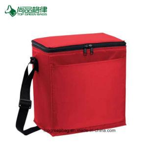 Personnaliser l'avant Ouvrez Pocket Polyester transportant de l'épaule déjeuner sac du refroidisseur