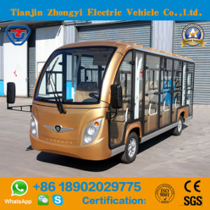 14 lugares turísticos Eléctrico de ouro com certificado CE do Carro de Transporte
