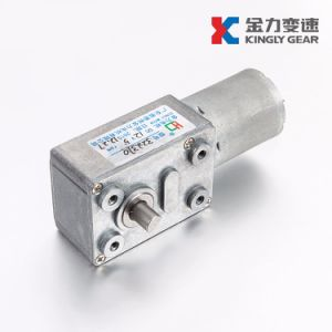 24V 32mm de diámetro del gusano de Micro Motor dc con caja reductora
