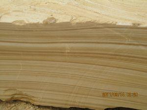 対処する黄色いTeakwoodの砂岩平板のプールフロアーリングまたは築壁の石造りのタイルを舗装する