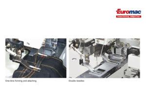 Em-1052; Automática Lockstitch Industrial máquina de costura Setter de laço da correia