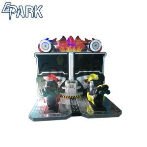 Het muntstuk stelde de Dubbele Spelen van de Rit van de Jonge geitjes van de Motorfiets van de Speler Rennend in werking de Machine van het Spel van de Arcade voor Verkoop