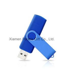 Портативный 64 Гбайт 2 в 1 для мобильного телефона пластиковые OTG флэш-диска USB