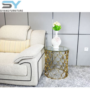 Mesa de vidro de mesa lateral de mobiliário Hobby Lobby Mesa lateral