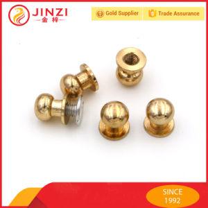 Color oro Boquilla de metal de alta calidad para las bolsas de remache ojal