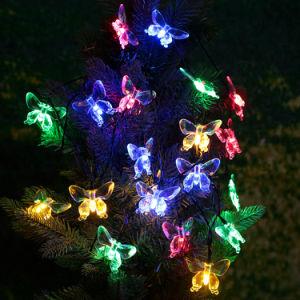 Im Freien die 20 LED-Farbe imprägniern, die dekorative Basisrecheneinheits-Solarzeichenkette-Licht ändert