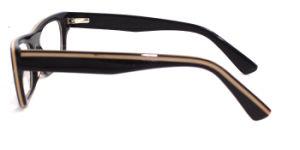 De eigen Acetaat Met de hand gemaakte Eyewear van de Oogglazen van de Vrouwen van het Merk (FLA1719)