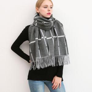 Moda lenço de Inverno para Mulheres Cachecol Cashmere Plaid Pashmina Quente Cachecol Manta de marca de luxo envolvimentos corporais femininos cachecóis e xales