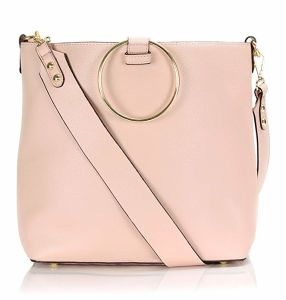 Venda quente Classic Lady Fashion PU Crossbody bolsa com alça de metal