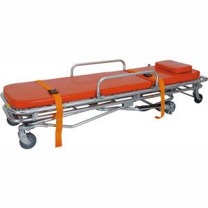 Edelstahl-Krankenwagen-Krankenhaus-faltende Aluminiumlegierung-geduldige Bahre-Laufkatze