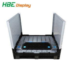 Armazenamento recolhível compartimentos do Engradado Recipiente Caixa de paletes plásticos de dobragem