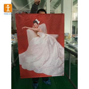 Customed昇進(TJ-018)のための屋外PVC二重印刷されたハングの旗