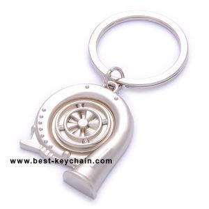 승진 금속 주문 터보에 의하여 개인화되는 열쇠 고리 (BK11351)