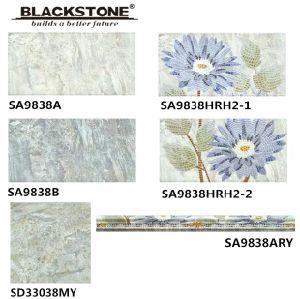 300X600mmのインクジェット印刷の花模様(SA9838A)が付いている陶磁器の床および壁のタイル
