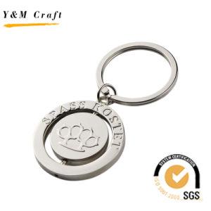 Corrente chave retrátil retrátil em liga de zinco para logotipo laser Ym1003