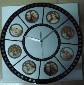 Horloge murale en verre