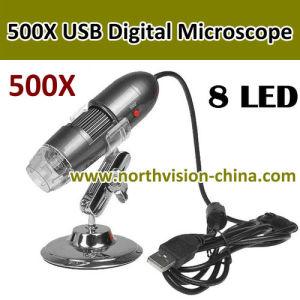 25~500X, CMOS Sensor, 8 PCS White LED Lights를 가진 500X USB Digital Microscope