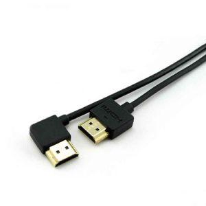정각 매우 황금 호리호리한 HDMI 케이블