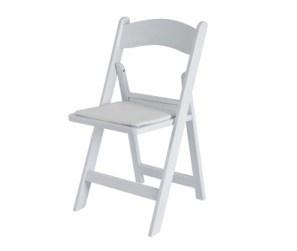 임대 사건 백색 접는 의자