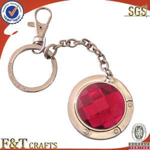 La decoración personalizada colgador de bolso doble con Llavero/Llavero de regalo promocional