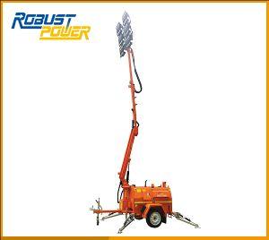 道路工事SAA 6X480Wの高いマストの移動式携帯用発電機ライト