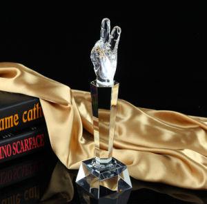 最上質音楽Vocalsの声のコップのマイクロフォン賞のトロフィの水晶歌うクラフトの記念品