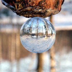 Esfera de vidro de artesanato de cristal para decoração e a fotografia Photo com várias dimensões