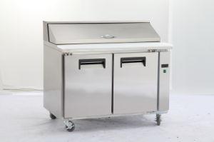 Ce утверждения коммерческих нержавеющая сталь рабочий стол холодильник морозильник