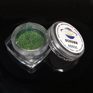 DIYのマニキュアのきらめきの粉を照らすカメレオンミラーのクロム顔料