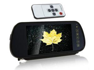 """7 """" l'écran couleur LCD TFT 7 pouces moniteur Rétroviseur de voiture se connecter à la caméra de recul / DVD avec 2 CC 12V d'entrée vidéo PAL/NTSC"""