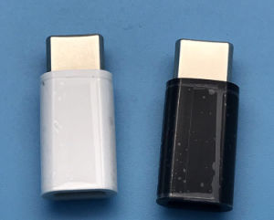 Het naadloze HoofdMannetje van het Metaal type-C aan Vrouwelijke Adapter micro-USB