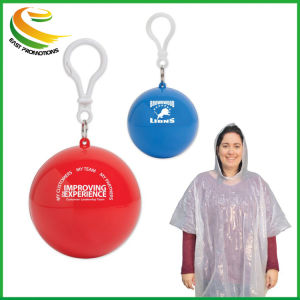 Kundenspezifische Regen-Mantel-Deckel-Poncho-Kugel für Förderung