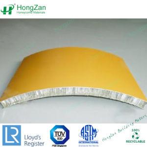 Léger en aluminium de panneaux sandwich Honeycomb incurvée