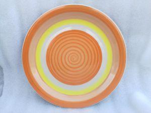 Piatto di ceramica personalizzato del piatto poco costoso delle azione aperte di marchio