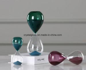 De hoge Zandloper van de Kleur van het Glas Borosilicate Groene, Purpere en Blauwe