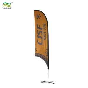 3m 4m 5mの上陸海岸表示旗の立場の羽のフラグの刃の旗を広告する習慣